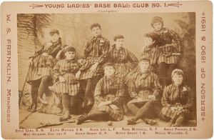 1890-91 Young Ladies' Base Ball Club No. 1