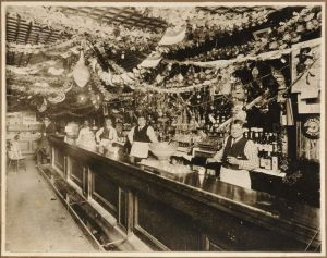 Babe Ruth in Father's Saloon, 1915