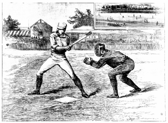 All-America v. Chicago. First match in Sydney, Dec 15, 1888. Australian Town and Country Journal.