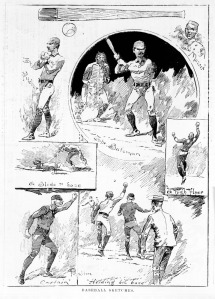 Baseball Sketches in Melbourne. Illustrated Australian News, Jan 12, 1889.