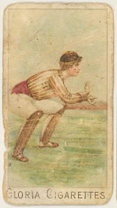 """Catcher from the series """"Sports Girls"""" (C190), Gloria Cigarettes, 1889."""