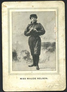 Maud Nelson began in baseball at 16, with the Boston Bloomer Girls.
