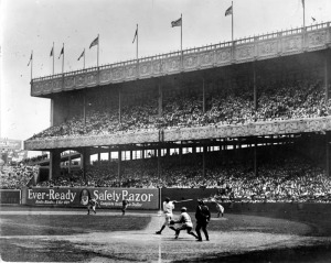 Ruth blasts one at Polo Grounds.