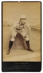 1886 Allen & Ginter tobacco cabinet card; Black Stocking Nine