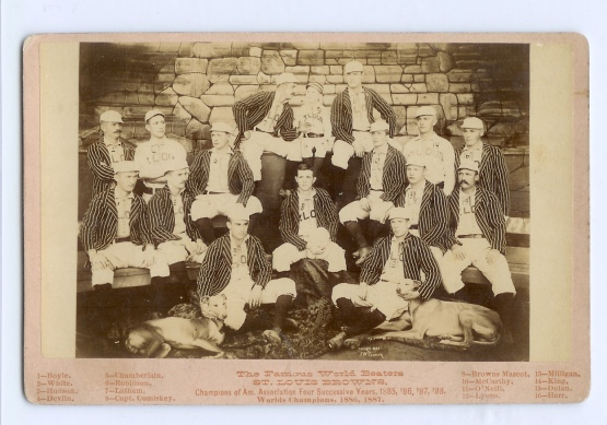 1888 St. Louis Browns, cabinet card by Guerin.