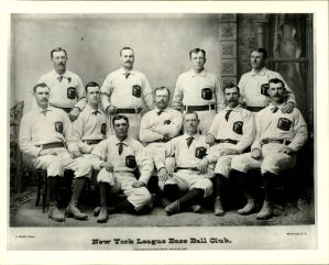 New York Gothams, 1883, wearing the seal of New York