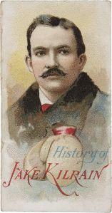 """Jake Kilrain, Pugilist, Duke """"History of Poor Boys"""" 1888"""
