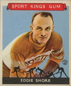 Eddie Shore, Hockey, 1933 Sport Kings