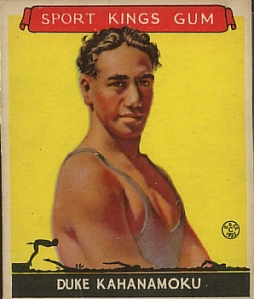 Duke Kahanamoku, Surfer, 1933 Sport Kings