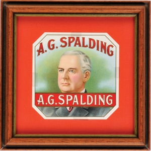 Albert G. Spalding cigar box label