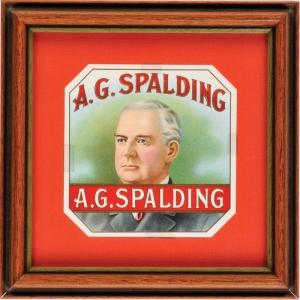 Albert G. Spalding cigar box label