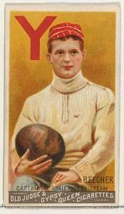 Harry Beecher, Yale football captain, Old Judge, 1888