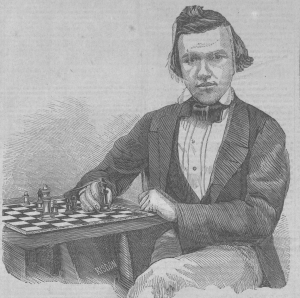 Paul Morphy, American Chess Champion, Clipper, 1858