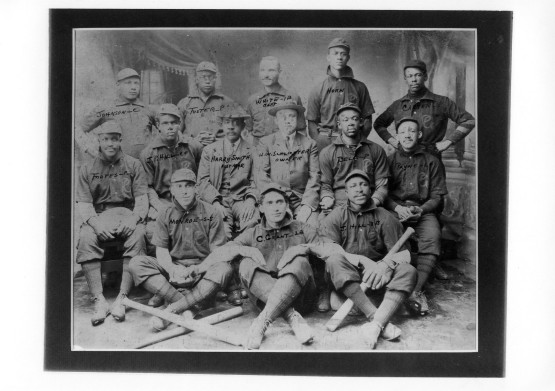 Philadelphia Giants 1905-06 with Sol White, top center.