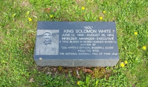 Sol White's new headstone