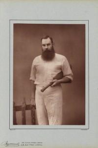 """William Gilbert (""""W.G"""") Grace, Cricketer, photographer Herbert Rose Barraud, 1888"""