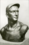 """The Spirit of Baseball,"" bust by Gertrude Boyle Kanno."