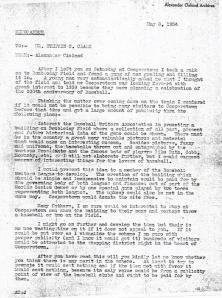 Cleland Memorandum HOF 050834