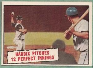 Harvey Haddix, 1961 Topps card