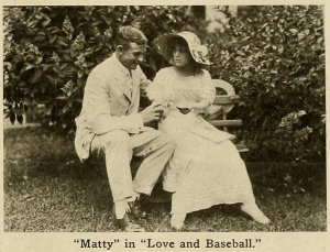 "Mathewson in ""Love and Baseball,"" a lost film."