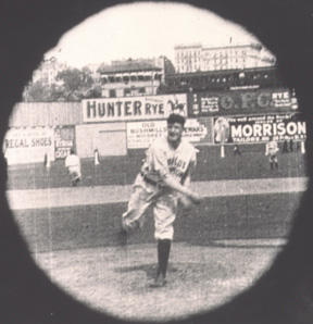 Matty captured on film, Opening Day, 1906.