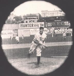Matty captured on film, Opening Day, 1906.