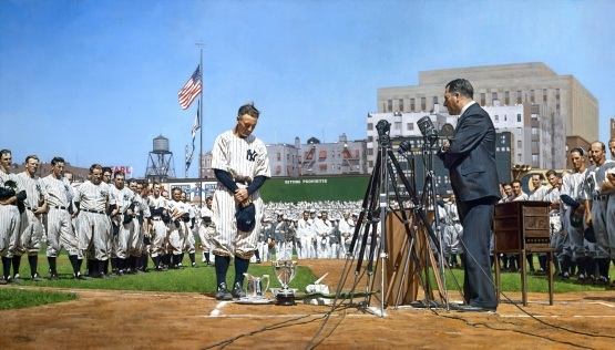 Lou Gehrig, July 4, 1939 Farewell, by GRaig Kreindler.
