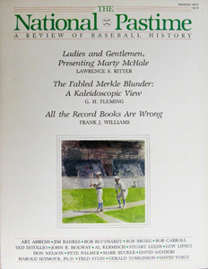 The National Pastime, debut number, 1982
