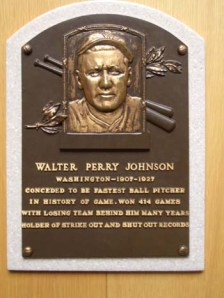 Walter Johnson HOF plaque