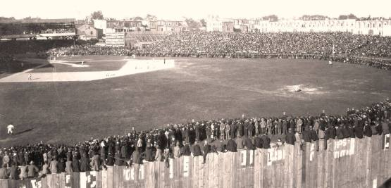 25. A record crowd at Baltimore for game that clinches pennant for Boston, September 27, 1897; LOC.