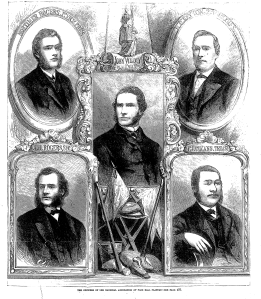 Officers of the National Association, John Wildey at center, Leslie's, December 21, 1866