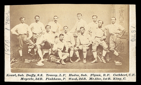 1870 Chicago White Stockings, with Jimmy Wood at center