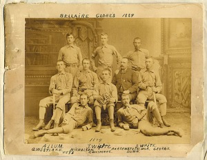 1884 Bellaire Globes Base Ball Club, with Sol White