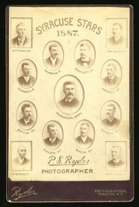 1887 Syracuse Stars with  Robert Higgins