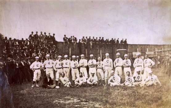 Red Stockings at Cleveland, October 1870, one week before their game in Chicago