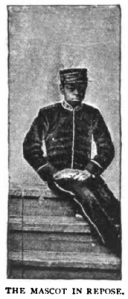 Clarence Duval, mascot on the World Tour of 1888-89