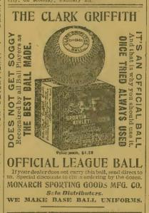 Clark Griffith Official Ball