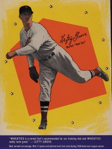 Lefty Grove, Wheaties 1937