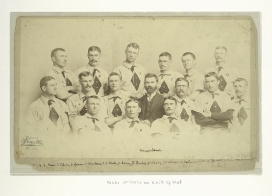 "St. Louis Black Dimonds (""Maroons"") of 1885 or 1886, Charles Sweeney at top, second from leftNo. 5"