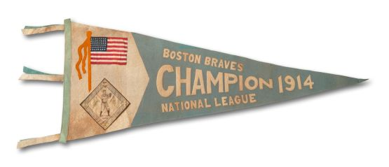 1914 Boston Braves NL Champions Felt Pennant