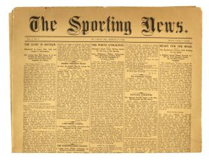 The Sporting News first issue, 1886.