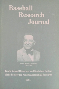 Baseball Research Journal, 1981