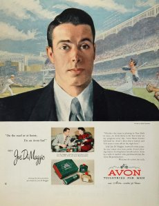 Joe DiMaggio for Avon