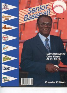 Flood with Senior Professional Baseball League.