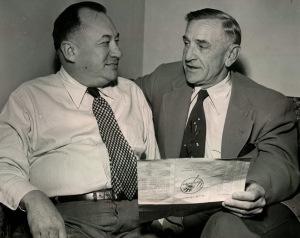 George Weiss (left), Stengel
