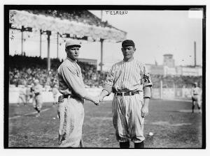 Joe Wood and Jeff Tesreau, 1912 World Series.