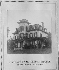 Residence of Mr. Francis Pidgeon, on the banks of the Hudson. The Pearl, Pearl, Jne 1, 1875.