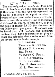 From Delhi Gazette, July 13, 1825.