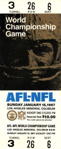 Ticket to Super Bowl I.