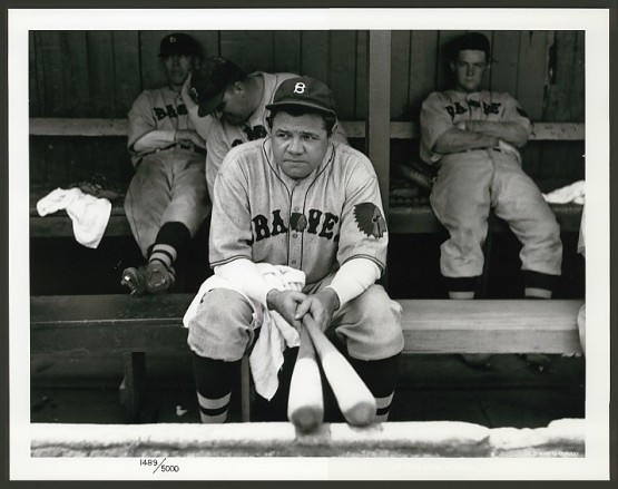 Babe Ruth as a Boston Brave, last at  bat, 1935